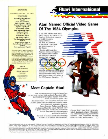 Atari Age Issue 03 Contents