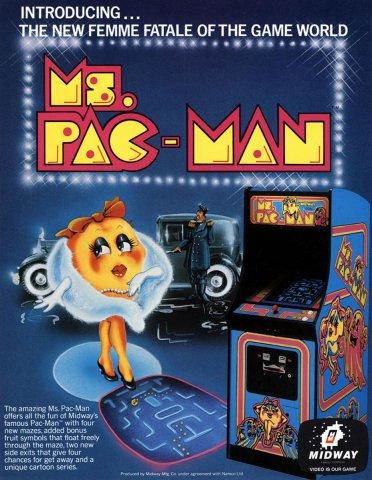 Ms. Pac-Man Arcade Ad