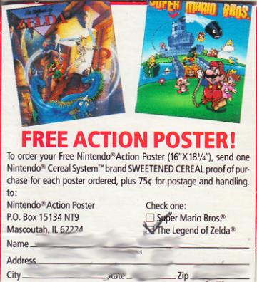 Nintendo Poster Offer