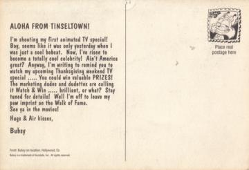 Bubsy Postcard (back)
