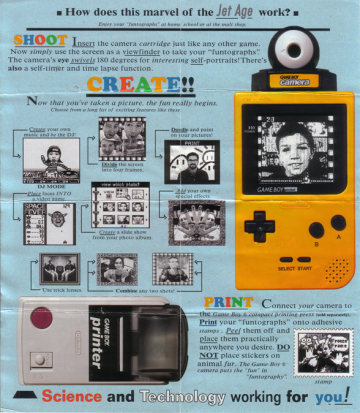 GameBoy Camera Pamphlet(Inside)