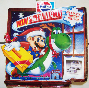 Pepsi Christmas SNES Display