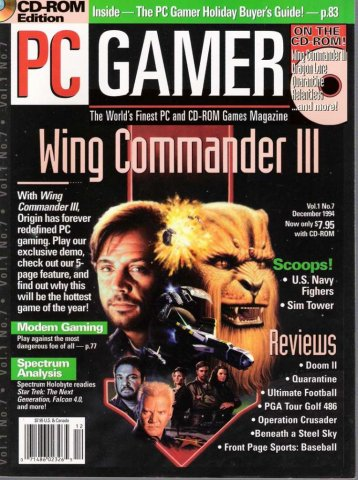 PC Gamer Issue 007 December 1994