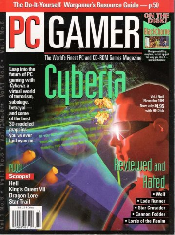 PC Gamer Issue 006 November 1994