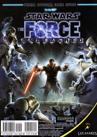 Star Wars - The Force Unleashed Official Game Guide (Back)