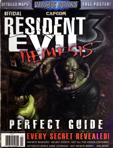 Resident Evil 3 Nemesis Official Perfect Guide
