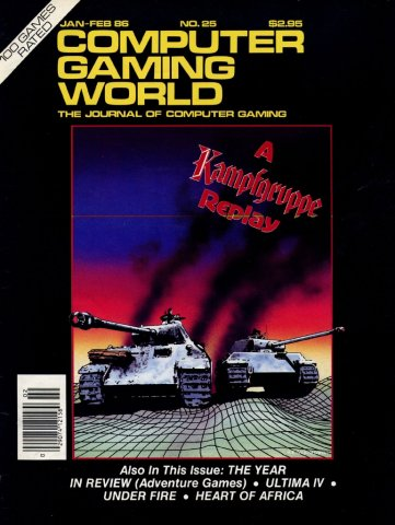 Computer Gaming World Issue 025 January February 1986