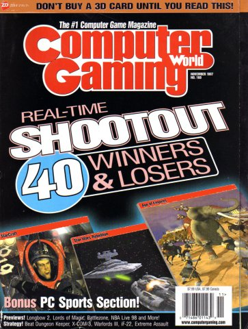 Computer Gaming World Issue 160 November 1997