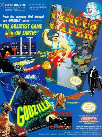 Circus Caper, Godzilla