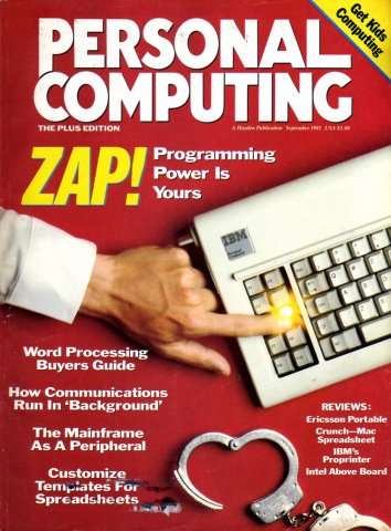 Personal Computing Vol 09 No 09 September 1985