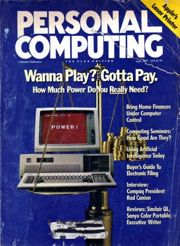 Personal Computing Vol 09 No 04 April 1985
