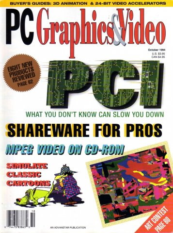PC Graphics & Video Vol 03 No 08 October 1994