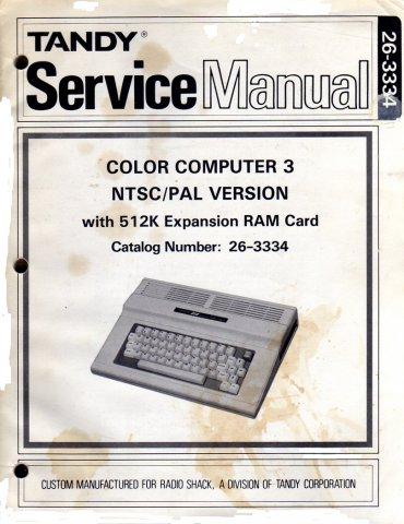Tandy Service Manual: Color Computer 3