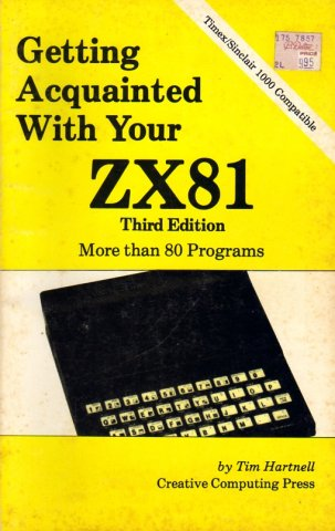 Getting Acquainted With Your ZX81, Third Edition
