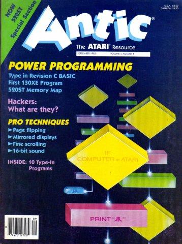 Antic Issue 035 September 1985