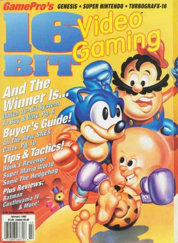 16-Bit Video Gaming February 1992