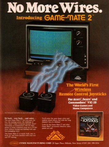 Game Mate 2 Wireless Joystick Electronic Games 11 Jan 83 Pg 27