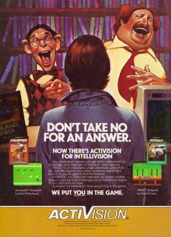 Stampede Pitfall Electronic Games 10 Dec 82 Pg 140