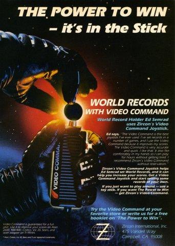 Zircon International Video Command Stick Electronic Games 17 July 83 pg17