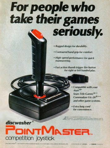 Discwasher Pointmaster Electronic Games 11 Jan 1983 Pg 9
