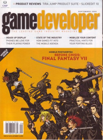 Game Developer 116 Sep 2005