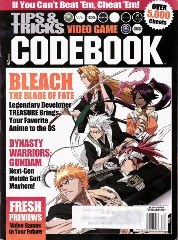 Tips & Tricks Video Game Codebook November-December 2007