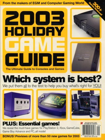 2003 Holiday Game Guide