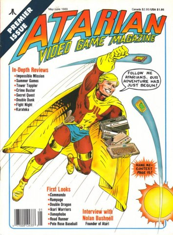 Atarian Video Games  Issue 001 May/June 1989