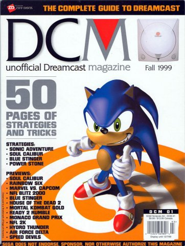 DCM Unofficial Dreamcast Magazine Issue 1 (Fall 1999)