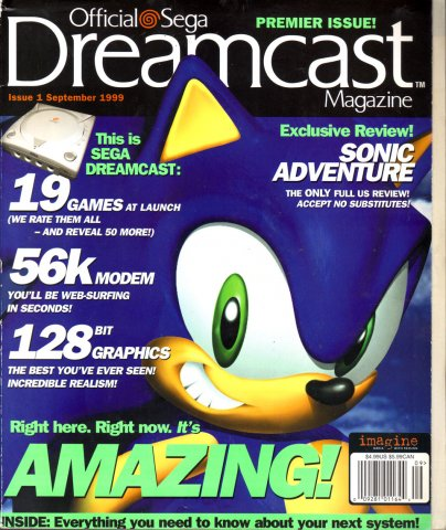 Official Sega Dreamcast Magazine Issue 001 (September 1999)