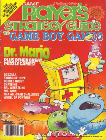 Game Players Strategy Guide to Game Boy Games Volume 2 Issue 1 January/February 1991