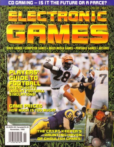 Electronic Games Issue 02 November 1992 (Volume 1 Issue 2)