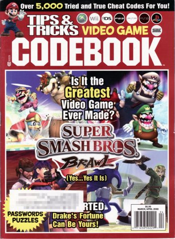 Tips & Tricks Video Game Codebook March-April 2008