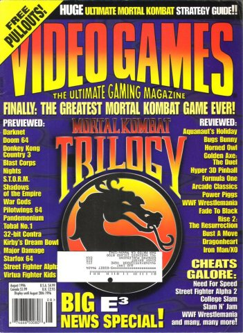 Video Games Issue 91 August 1996