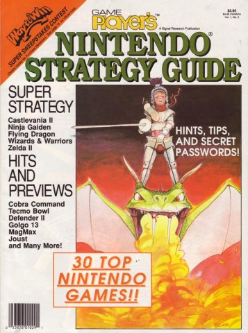 Game Player's Nintendo Strategy Guide Vol.1 No.2 1988