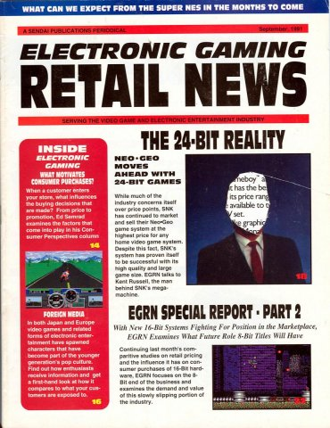 Electronic Gaming Retail News