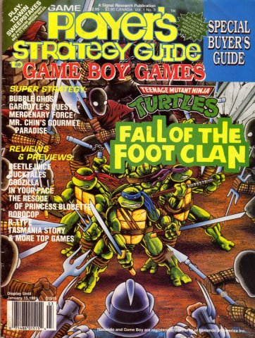 Game Players Strategy Guide to Game Boy Games Volume 1 Issue 3 November/December 1990