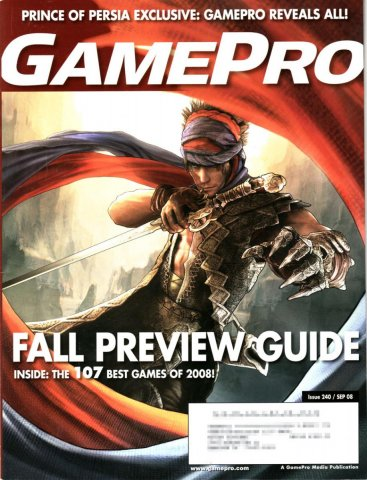 GamePro Issue 240 September 2008 (Subscribers Cover)