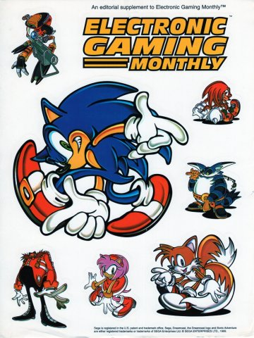 Electronic Gaming Monthly - Sonic Adventure - sticker supplement