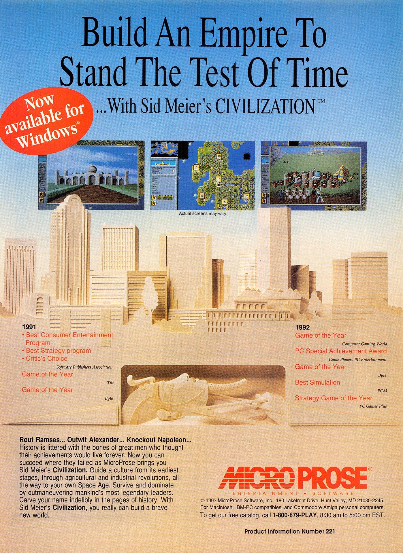 Sid Meier's Civilization (Windows 3.x)