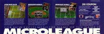 MicroLeague Action Sports Soccer, MicroLeague Baseball 4, Microleague Football 2