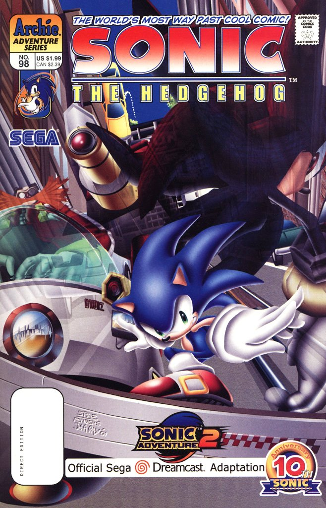 Sonic the Hedgehog 098 (August 2001)