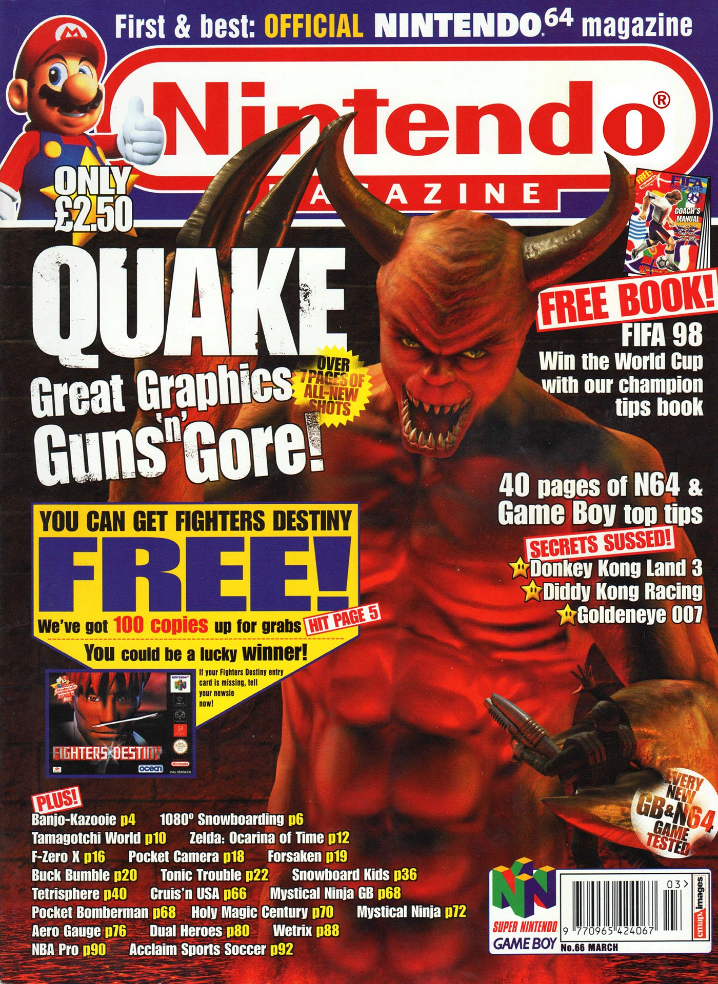 Nintendo Official Magazine 066 (March 1998)