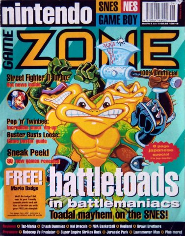 Nintendo Game Zone Issue 08 (June 1993)