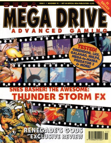 Mega Drive Advanced Gaming 03 (November 1992)