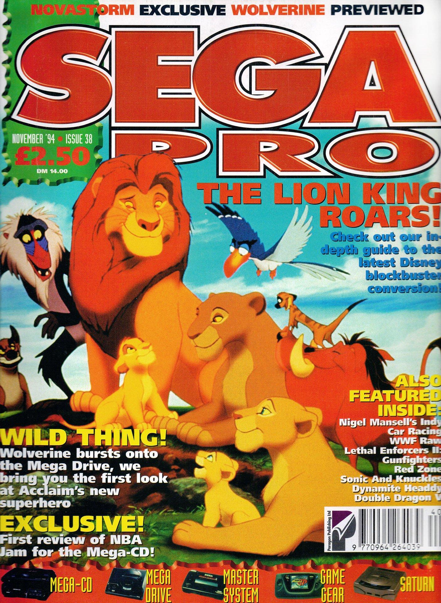 Sega Pro 38 (November 1994)
