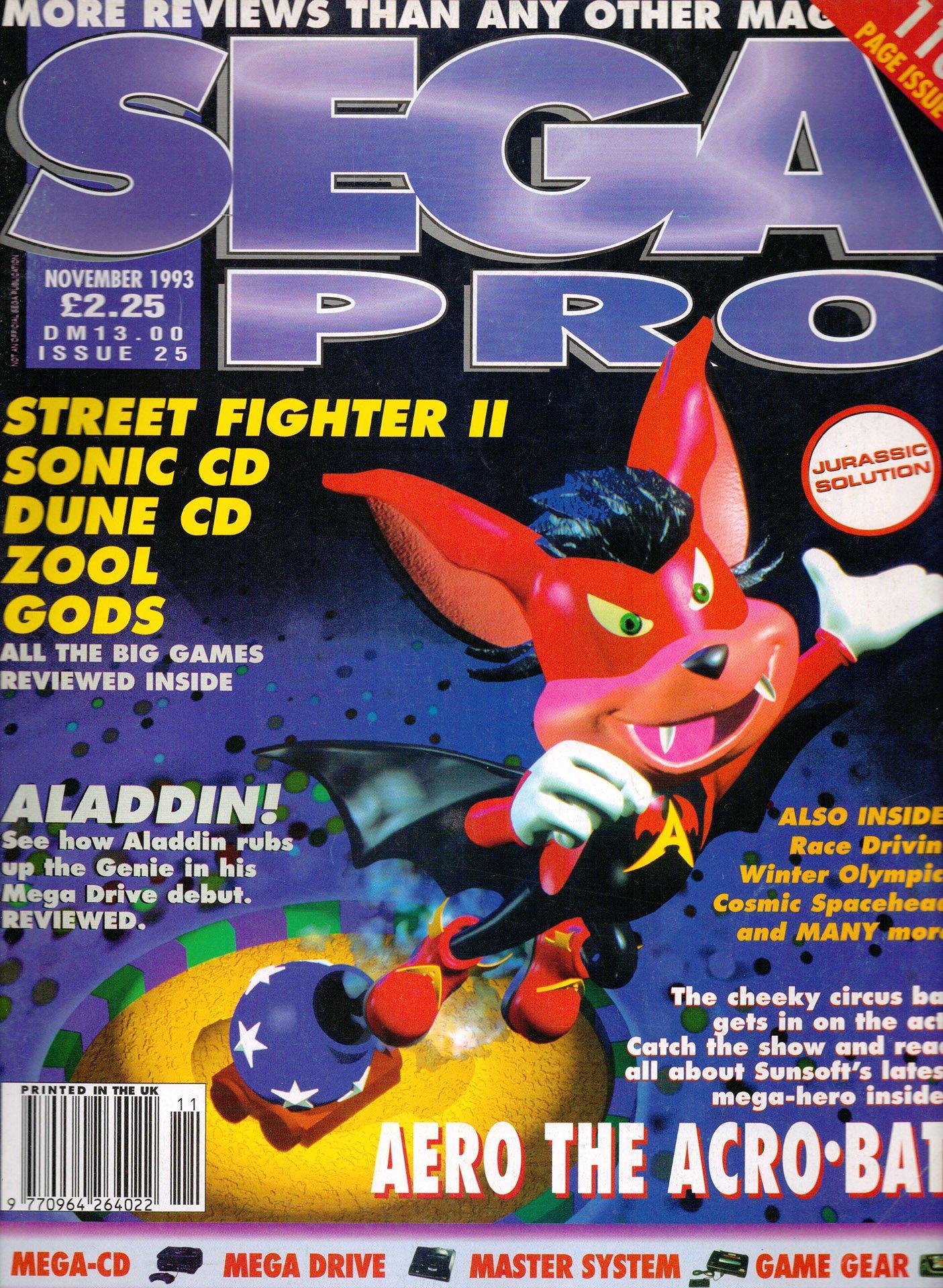 Sega Pro 25 (November 1993)