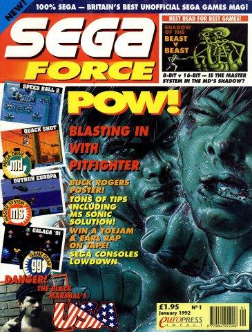 Sega Force 01 (January 1992)