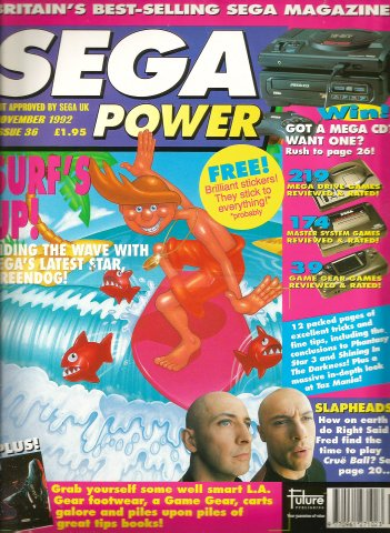 Sega Power Issue 36 (November 1992)