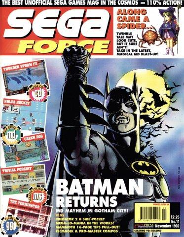 Sega Force 11 (November 1992)